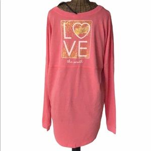 NWT Red Camel Fuzzy Coral Sweeper Love South L